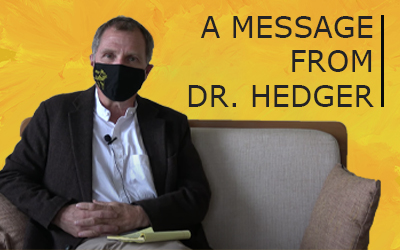 A message from Dr. Hedger